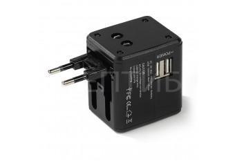 Универсальная зарядка USB для всех типов розеток UK Europe USA/AUS