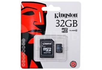 Карта памяти Kingston для камер, телефонов, планшетов 32 ГБ 10 Class MicroSDHC