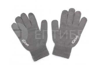 Перчатки iGlove для сенсорных экранов, телефонов iPhone серые