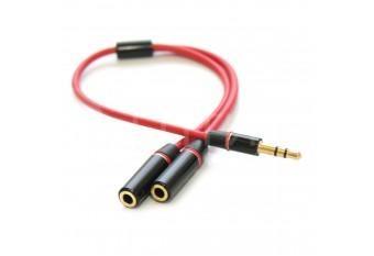 Раздвоитель для двух наушников Jack 3.5mm для iPhone, iPad, iPod, Samsung