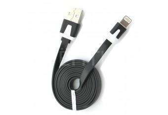Прочный USB Lightning кабель, зарядка для iPhone 5, 5s, 5c, 6, 6+, 6S и iPad retina/mini черный