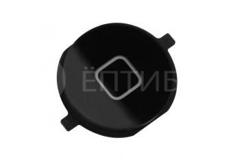 Круглая нижняя кнопка HOME для iPhone 4 черная