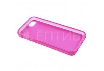 Пластиковый защитный чехол для iPhone 5 / 5S розовый