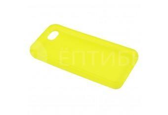 Пластиковый защитный чехол для iPhone 5 / 5S желтый