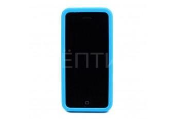 Пластиковый защитный чехол для iPhone 5C голубой