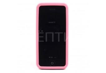 Пластиковый защитный чехол для iPhone 5C розовый