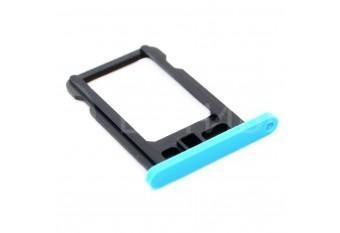 Сим-лоток (Nano Sim Card Tray) для Nano сим карты iPhone 5C голубой