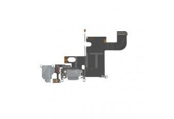 Нижний шлейф с микрофоном / dock коннектора / аудио выхода для iPhone 6 серый
