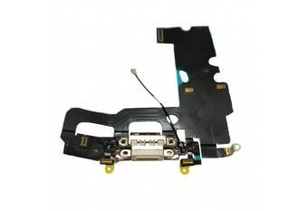 Нижний шлейф Dock коннектор с микрофоном для iPhone 7 Plus белый