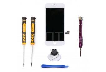 Набор для замены дисплея в iPhone 7 белый c инструментом