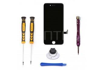 Набор для замены дисплея в iPhone 7 черный c инструментом