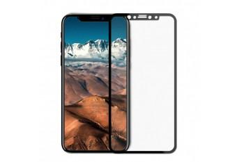 Защитное противоударное 6D стекло для iPhone X/XS черное