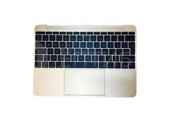 """Топкейс с клавиатурой и тачпадом для MacBook A1534 12"""" Early 2015 UK Gold"""