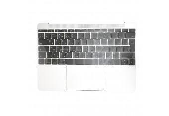 """Топкейс с клавиатурой и тачпадом для MacBook A1534 12"""" Early 2015 Silver Big Enter"""