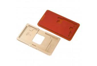 Металлическая форма для наклейки стекла на дисплей iPhone X/XS с подложкой для пресса