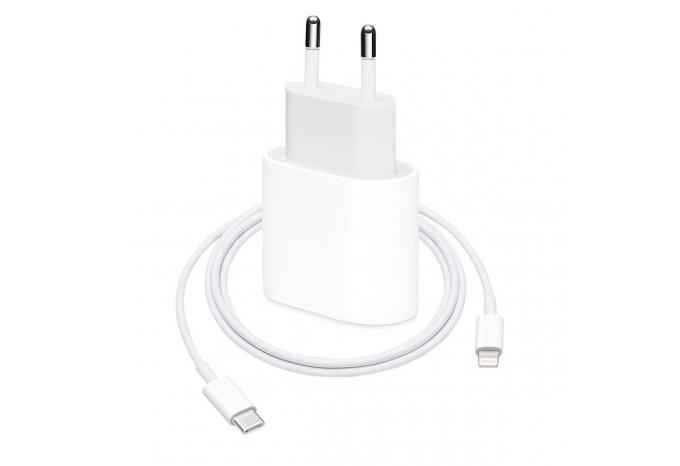 Адаптер питания USB-C 20W с кабелем Type-C - Lightning для iPhone