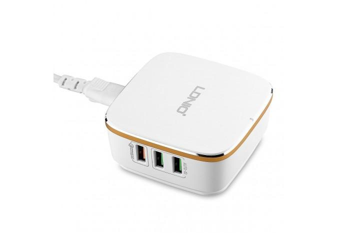 Зарядное устройство LDNIO A6704 6 USB в розетку 220В 35W с Quick Charge 2.0