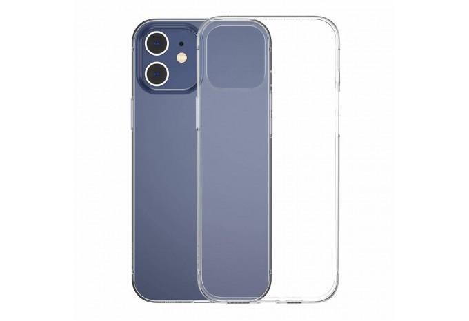 Прозрачный силиконовый чехол для iPhone 12 mini Baseus Simple ARAPIPH54N-02