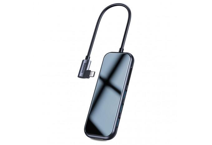 USB-C Хаб 3*USB 3.0, SD, TF, Type-C для MacBook Baseus Mirror Series Multi-functional HUB CAHUB-CZ0G