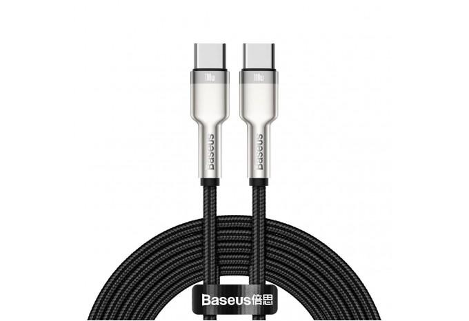 Кабель USB-C / USB-C 100W 2m Baseus Cafule Series Metal черный CATJK-D01