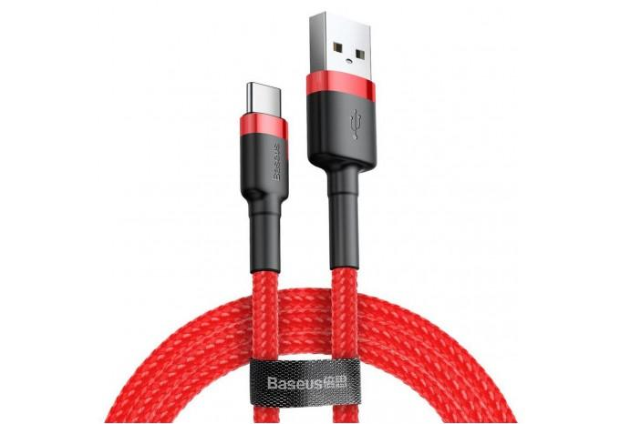 Кабель USB-C 2m Baseus Cafule Cable красный CATKLF-C09