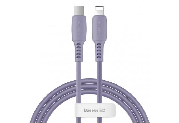 Кабель USB-C - Lightning для iPhone 1.2m Baseus Colourful Power Delivery cable 18W CATLDC-05