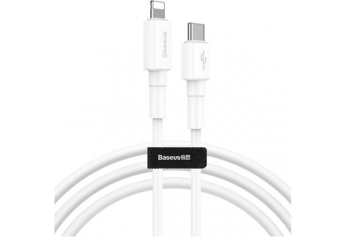 Кабель Lightning для зарядки iPhone от MacBook с Type-C 1 м Baseus CATLSW-02