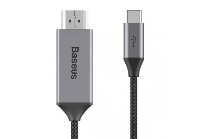 Кабель HDMI - Type-C 1.8 м для MacBook Baseus Type-C Male To HDMI Male CATSY-0G