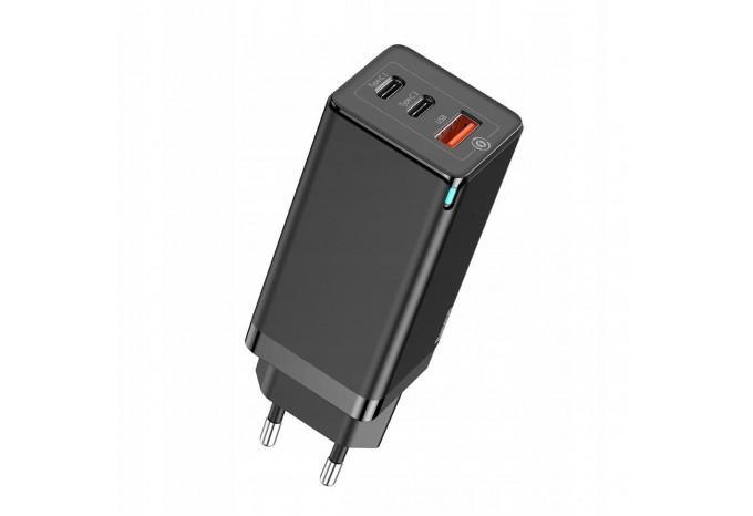 Быстрая зарядка 65W QC3.0 Baseus GaN Quick Travel Charger CCGAN-B01