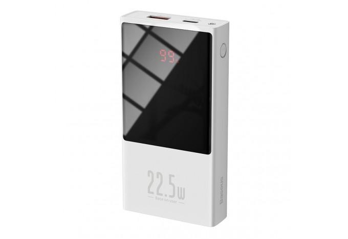 Внешний аккумулятор 10000mAh 22.5W QC PD Baseus Super Mini Power Bank белый PPMN-A02