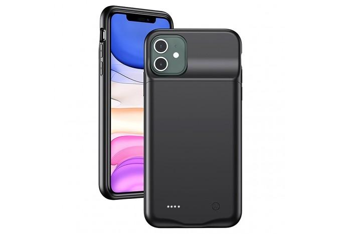 Чехол аккумулятор зарядка USAMS 4500mAh для iPhone 11 черный US-CD111
