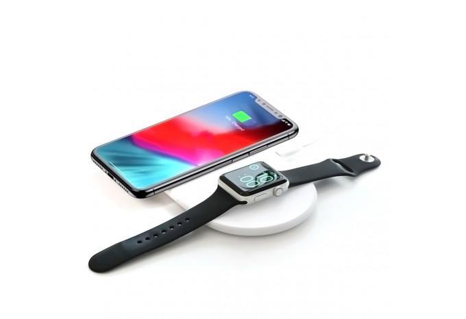 Беспроводное зарядное устройство Baseus 2 в 1 для iPhone X/XR/XS и Apple Watch