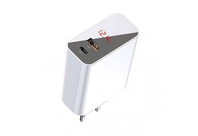 Зарядное устройство Baseus BS-EU907 45W USB/Type-C PD3.0+QC3.0