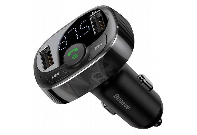 Автомобильное зарядное устройство Baseus CCTM-01 с FM трансмиттером 2 USB