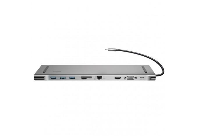 USB-C 3.0 Hub адаптер Baseus на HDMI, VGA, RJ45, SD, USB 3.0, Jack 3,5