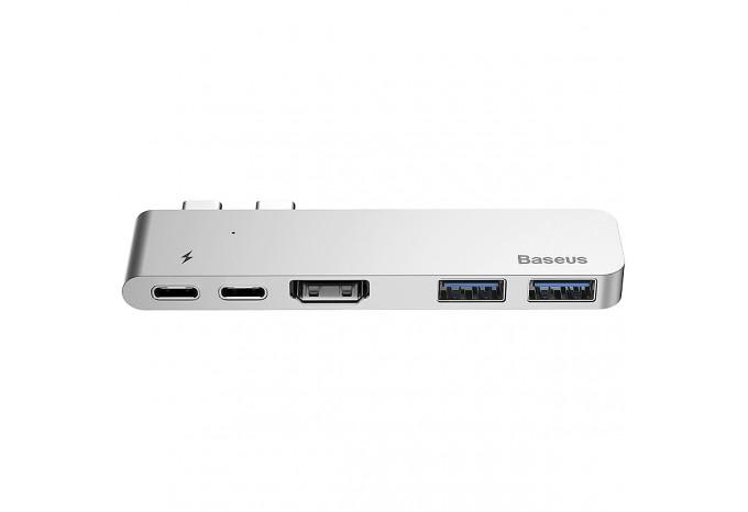 USB-C 3.0 Hub Baseus CAHUB-B0G на Thunderbolt 3, Type-C, HDMI, 2xUSB 3.0