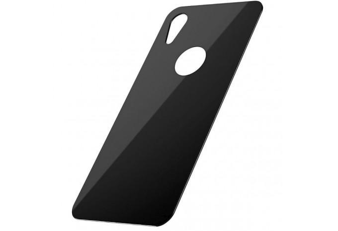 Защитное противоударное стекло Baseus для задней панели iPhone XR чёрное