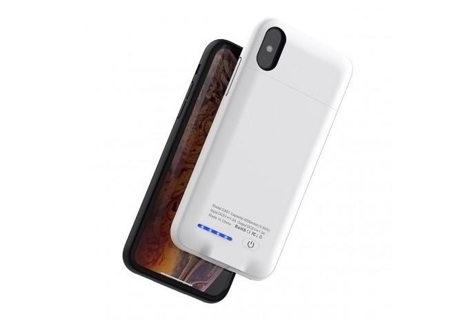 Чехол аккумулятор зарядка 4000mAh для iPhone X белый
