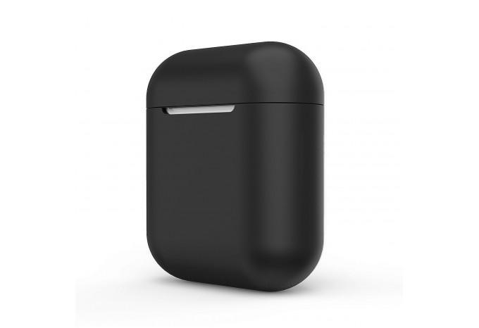 Силиконовый чехол для AirPods чёрный
