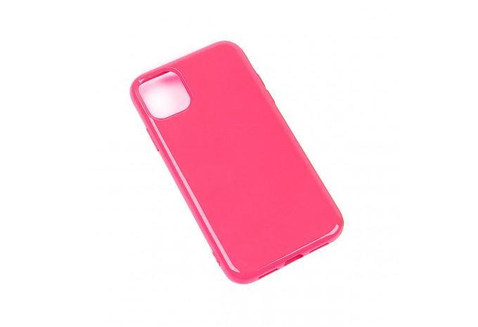 Чехол силиконовый для iPhone 11 Pro Max розовый глянцевый