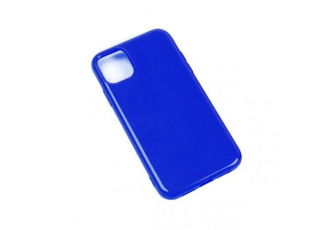 Чехол силиконовый для iPhone 11 синий глянцевый