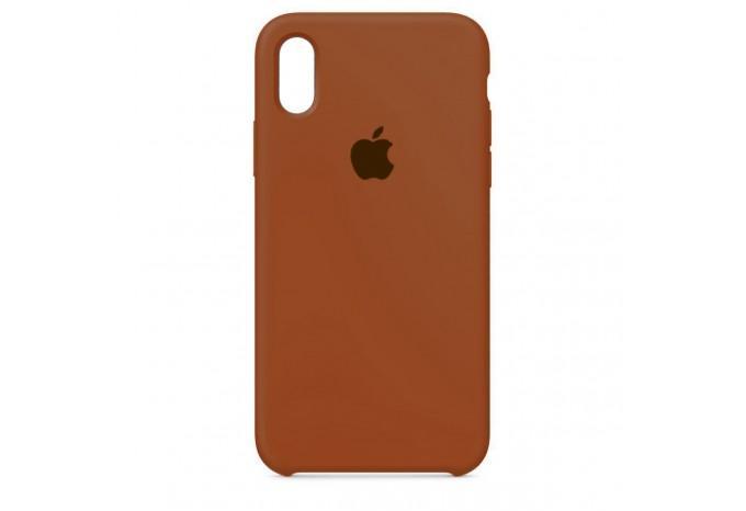 Ударопрочный силиконовый коричневый чехол для iPhone XR