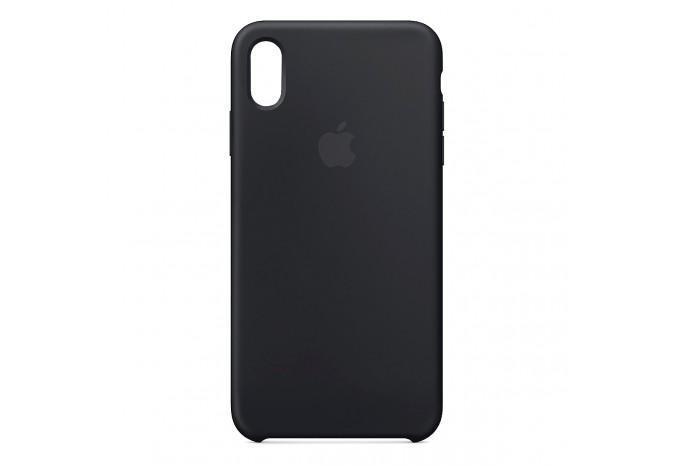 Ударопрочный силиконовый чёрный чехол для iPhone XR