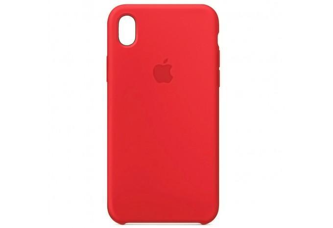 Ударопрочный силиконовый красный чехол для iPhone XR