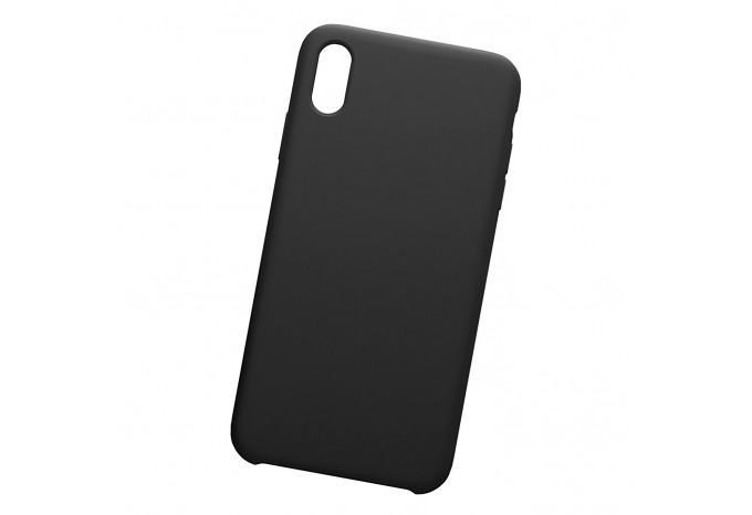 Ударопрочный силиконовый черный чехол для iPhone XS Max