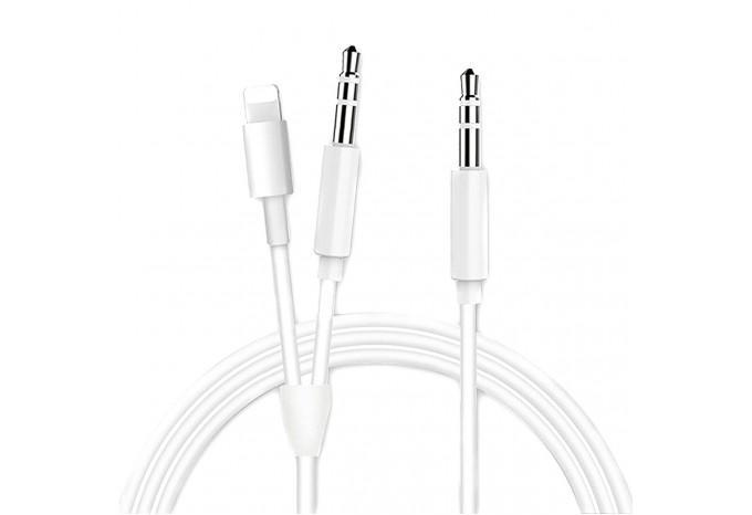 Аудиокабель Lightning - AUX 2 в 1 для iPhone, iPod