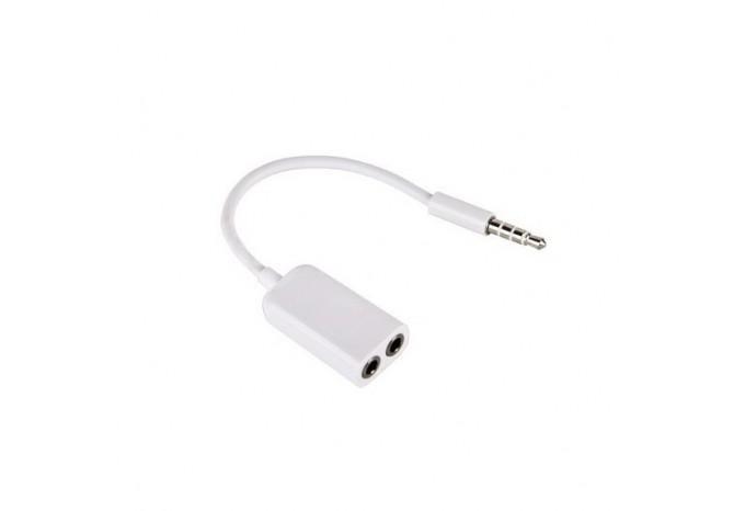 Разветвитель для двух наушников Jack 3.5mm для iPhone, iPad, iPod, Samsung
