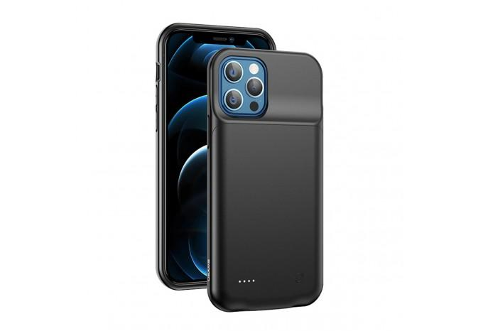 Чехол аккумулятор зарядка USAMS 3500mAh для iPhone 12 / 12 Pro черный US-CD162