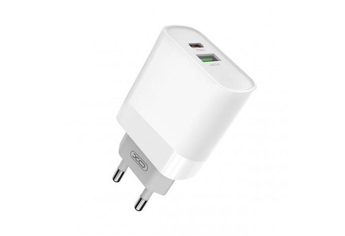 Мощный быстрый адаптер питания QC3.0 Power Delivery 18W XO L64 для iPhone, iPad