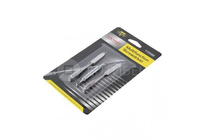 Лопатка шпатель отвертка двухсторонний разборный для ремонта iPhone, iPad металлический Yaxun YX688
